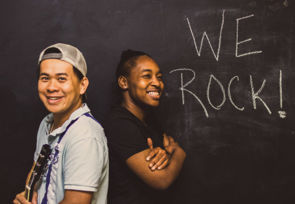 We rock blackboard