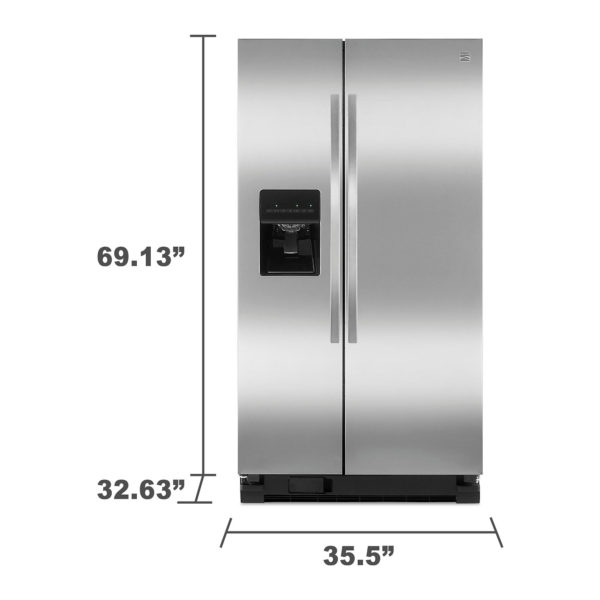 Refrigerator with dimensions
