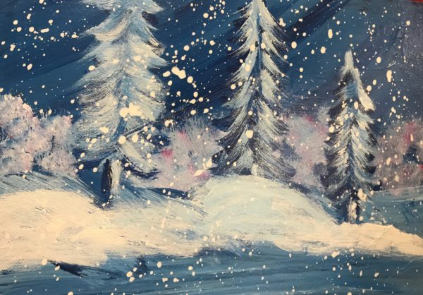 Card - Snowy Winter Scene